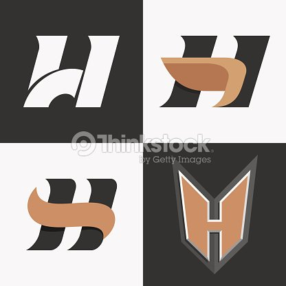 letter h sign logo icon design template elements vector art thinkstock