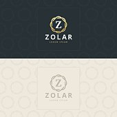Premium letter icon template. Design concept. Vector illustration