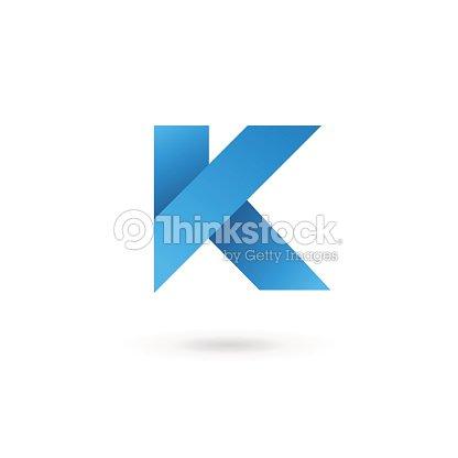 レター k エンブレムデザインテンプレート要素のアイコン ベクトルアート