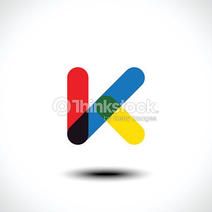 letter k logo icon design template elements ベクトルアート thinkstock
