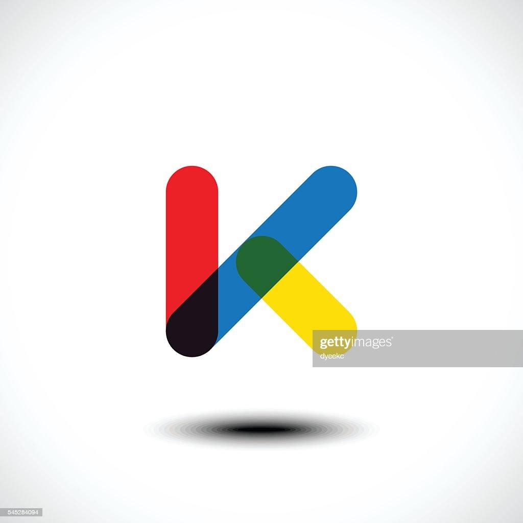 Letter K Logo Icon Design Template Elements : Vector Art