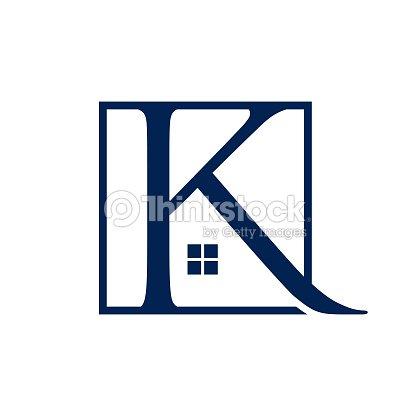 手紙 k 不動産ロゴ デザイン ベクトル テンプレート ベクトルアート