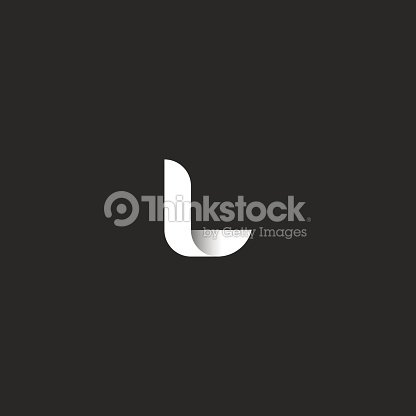 Letter L Logo Mockup Smooth Line Black And White Gradient Monogram
