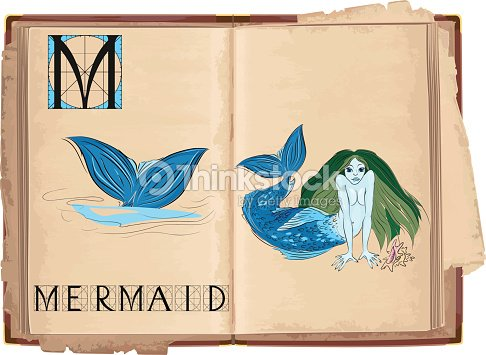 Letter M With Mermaid Stock Vector Thinkstock