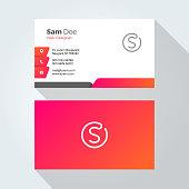 S Letter Modern Minimal Abstract Alphabet Business card design template
