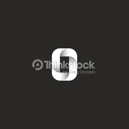 Letter O Symbol Idea Bold Capital Symbol Sleek Rectangle Geometric