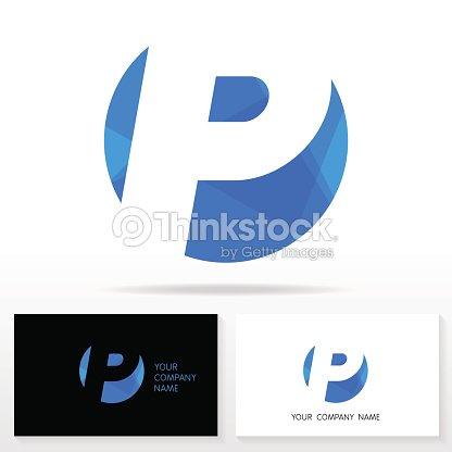 レター p ロゴデザインテンプレート要素のアイコンベクター