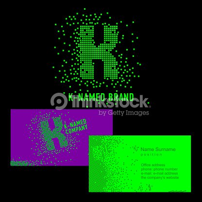 k letter sign template k brand name company corporate identity for the company on the letter k symbol business card creative sign of pixels