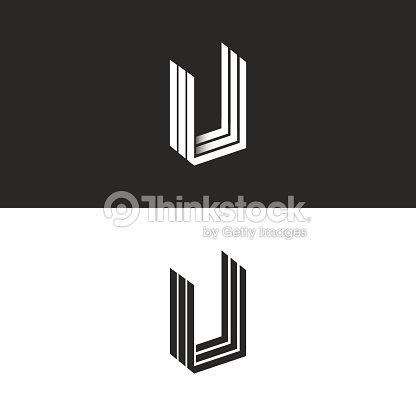 67b6a24ede Monograma de letra U icono forma geométrica isométrico perspectiva, hipster  iniciales gráfico UUU emblema Maquetado, plantilla de elemento de diseño de  ...