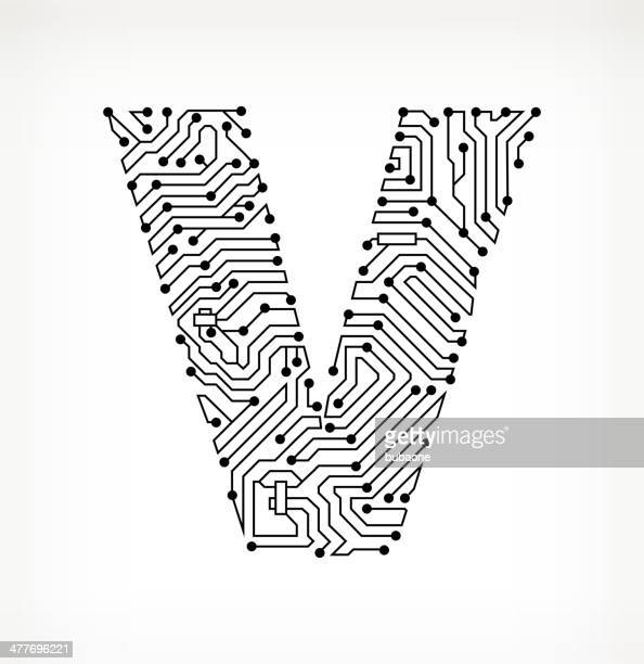 letter v stock illustrations and cartoons