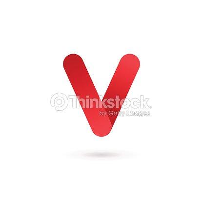レターの v デザインテンプレート要素のアイコン ベクトルアート