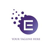 E Letter Design Illustration
