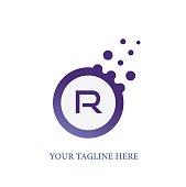 R Letter Design Illustration