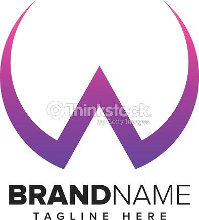 letter w symbol design template elements vector art