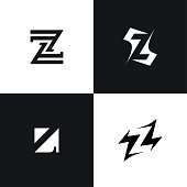 Letter Z icon icon company abstract signs collection.