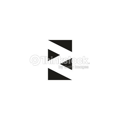 Letter Z Logo Black And White Graphic Geometric Triangle Flat Shape