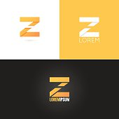 letter Z logo design icon set background 10 eps