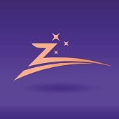 Letter Z Luxury Company icon for Jewelry business, Vector elegant Z Emblem with stars. Abstract Vector Symbol.