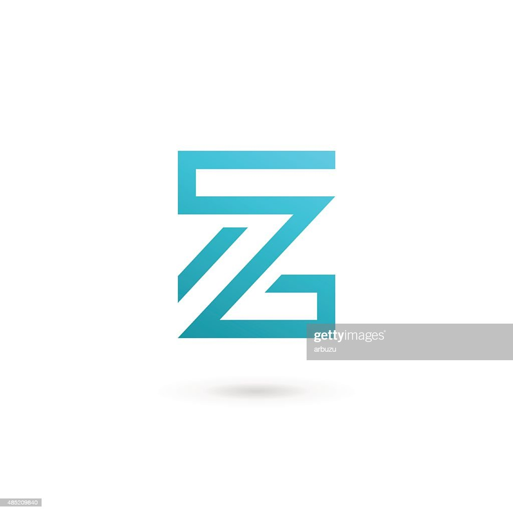Letter Z Number 2 Icon Design Template Elements : Vector Art