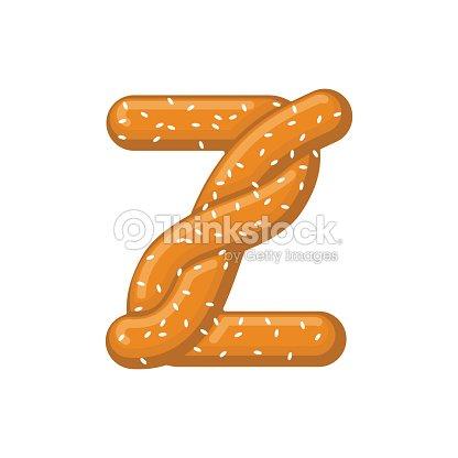 Letter Z Pretzel Snack Font Symbol Food Alphabet Sign Traditional