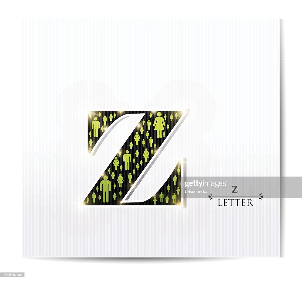 Letter z : Vector Art