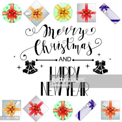 Lettering Merry Christmas. : Vector Art