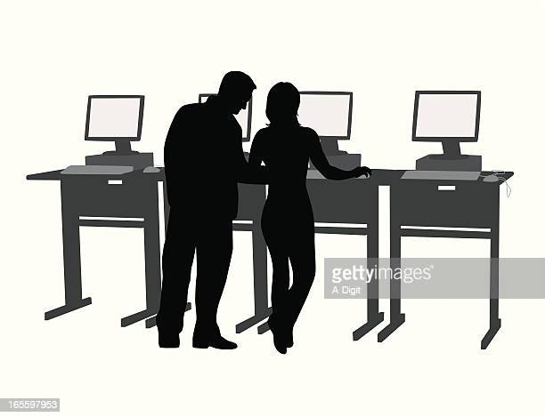 Library Search Vector Silhouette