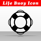 Illustration of life buoy vector icon design