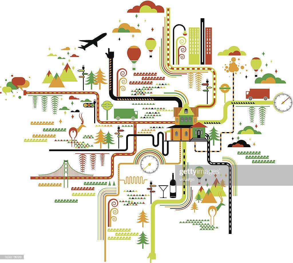life map : Vector Art