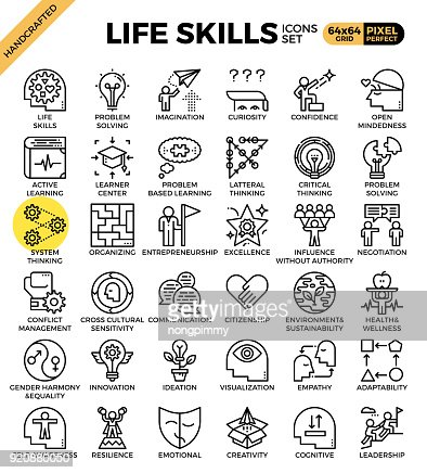 Life skills concept icons : stock vector