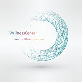 Light blue water technology logo design set vector illustration eps10