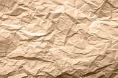 Light Brown Texture of Crumpled Paper - Abstract Background