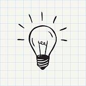 Idea symbol. Hand-drawn sketch in vector