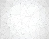 Abstract gray background in polygonal design with thin lines