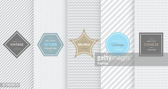 Light grey seamless patterns for universal background : Arte vettoriale