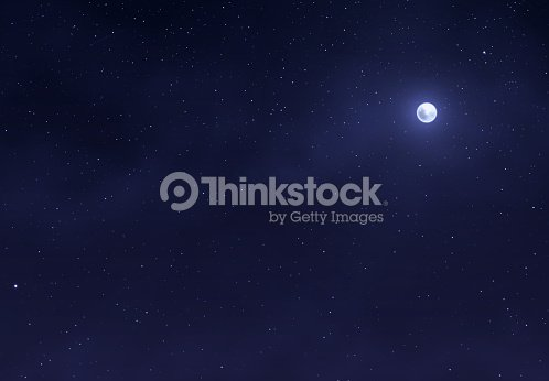 Light night sky with a bright moon. Space stars background. : stock vector
