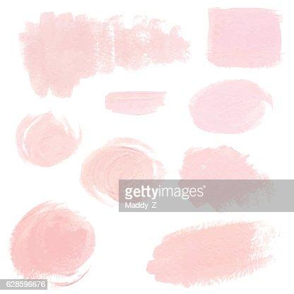 Light pink pastel acrylic brush strokes : stock vector