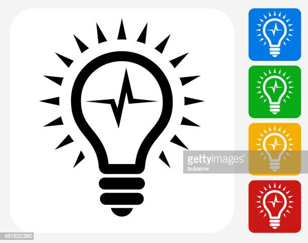 Lightbulb Icon Flat Graphic Design