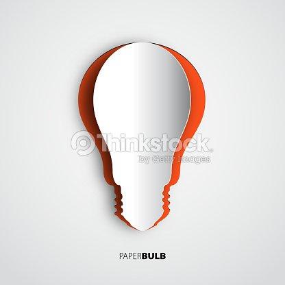 Glühbirne Symbol Papercut Banner Vorlagen Für Websites Vektorgrafik ...