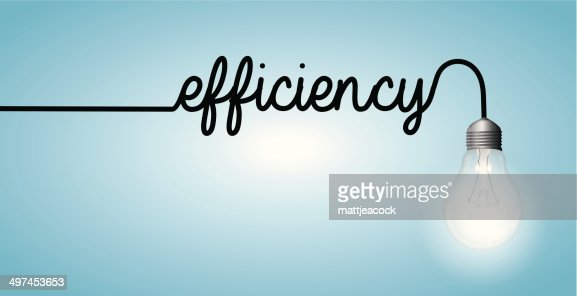Lightbulb Word Efficiency Vector Art | Getty Images