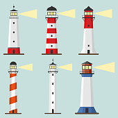 Lighthouse icon. Flat design, vector illustration, vector.