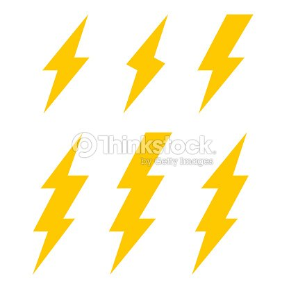 lightning bolt icons thunderbolt vector set
