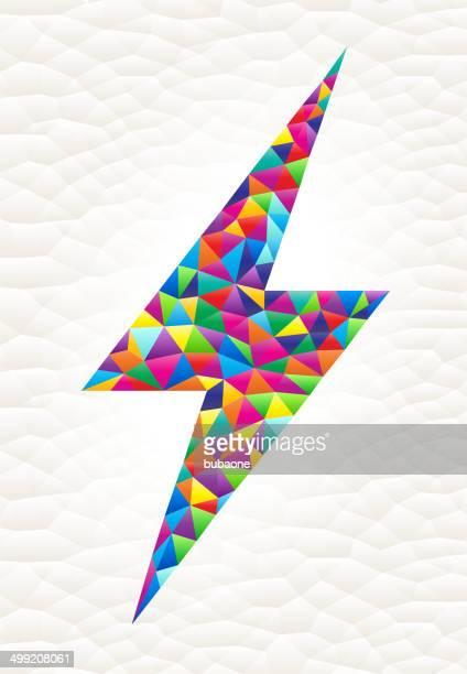 Lightning Bolt on triangular pattern mosaic royalty free vector art