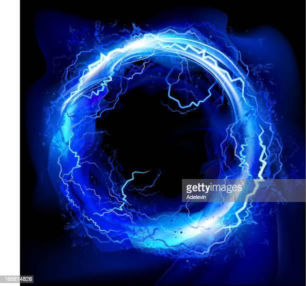 Lightning circle background