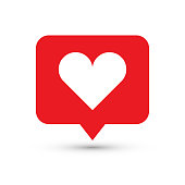 Like, heart icon. One of set web icons.