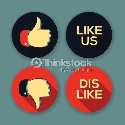 Like Us And Dislike Symbols Vector Art Thinkstock