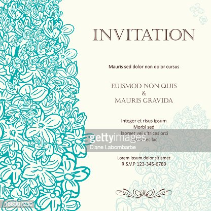 daisies floral wedding invitation background vector art | getty images, Wedding invitations