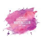 Violet vector texture handmade. Watercolor painting, textured Effect, watercolour paints,  painted image
