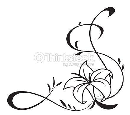noir silhouette de fleurs de lys illustration clipart vectoriel thinkstock. Black Bedroom Furniture Sets. Home Design Ideas