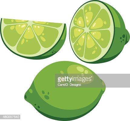 Lime Cartoon : Vector Art